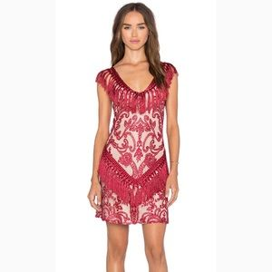 BNWT Alexis Antonella Dress in Burgundy Lace 0